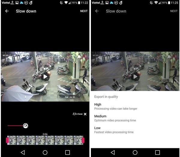 Có thể tùy chỉnh tốc độ nhanh hay chậm của video