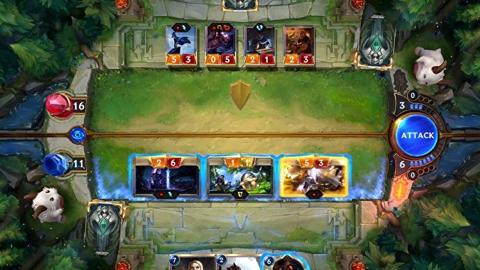 Mỗi khu vực chơi sẽ được chia làm 2 phần tương ứng phần sân của game thủ