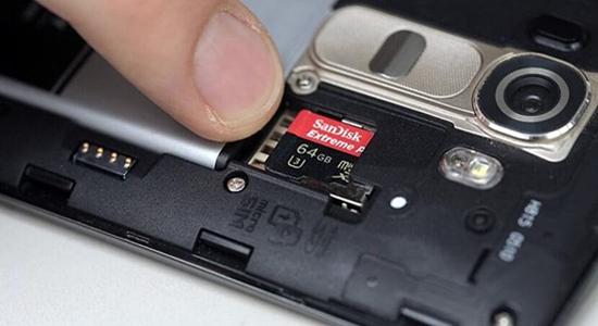 thẻ nhớ có thể khiến điện thoại bị chậm