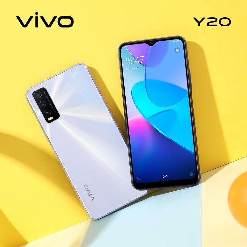Dòng vivo Y20 mới ra mắt có 2 màu Trắng và Xanh